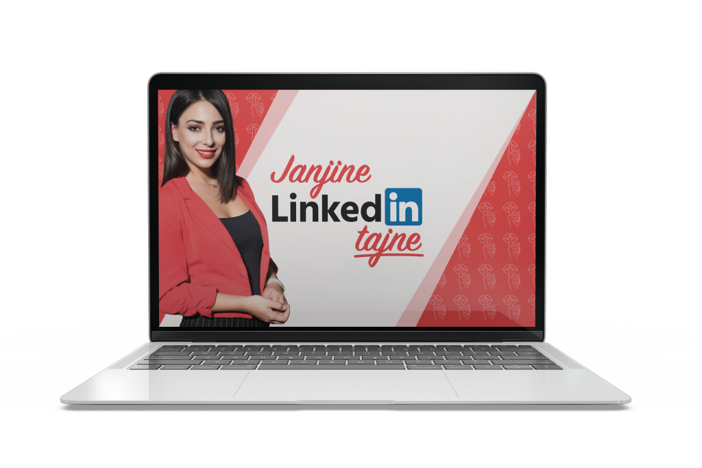 Linkedin eBook na laptopu
